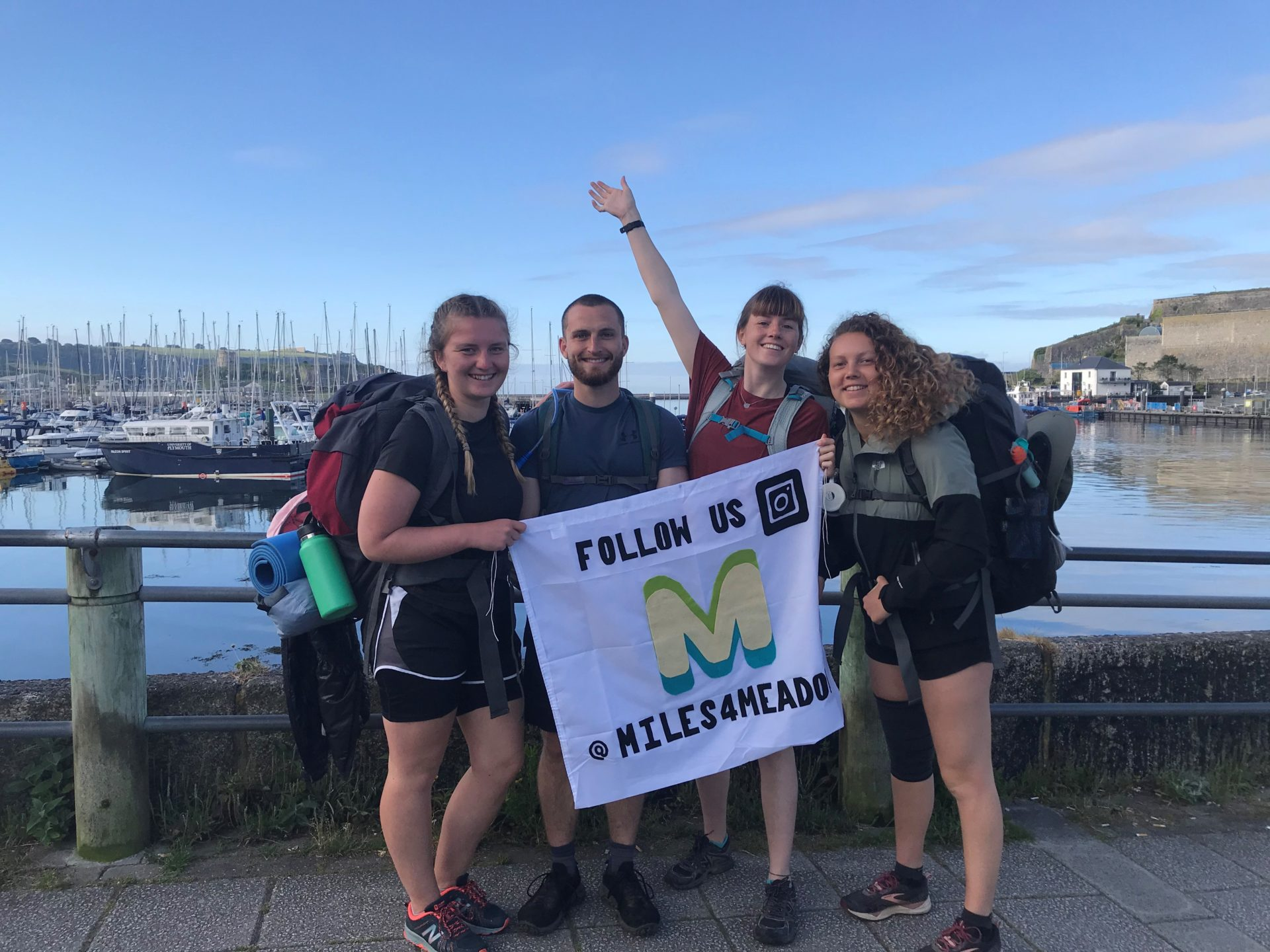 The Miles 4 Meadows team as the set off from Ocean Conservation Trust Headquarters on World Ocean Day